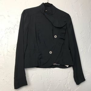 Free People asymmetrical Black Blazer